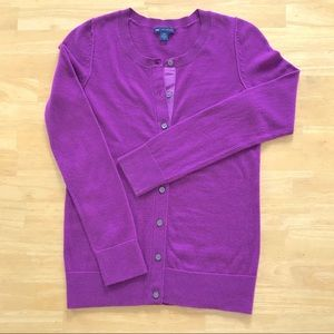 Gap Violet Small Cashmere Blend Cardigan Sweater
